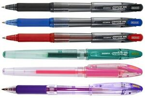 Zebra-Jimnie-Gel-Rollerball-Pen-All-Colours-SINGLES-OR-PACKS-OF-12