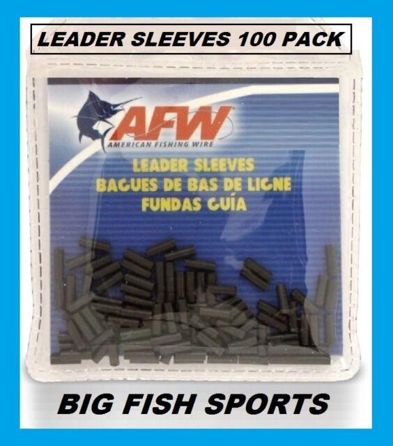 1.40mm AFW #3 Black Leader Sleeves .055 in #J03B-B 100 PACK SINGLE BARREL NEW