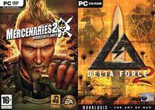 Mercenaries 2: World in Flames & delta force 2   new&sealed