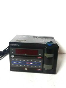 Details about VTG Retro 80's GE General Electric Nite Jammer Alarm Clock AM  FM Radio 7-4607BKA