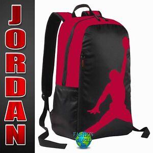d32649c18460 NIKE AIR JORDAN JUMPMAN LAPTOP SLEEVE BACKPACK SCHOOL BAG 9A1911 RED ...