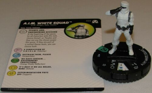 AIM WHITE SQUAD 022 Avengers Black Panther and the Illuminati HeroClix A.I.M.