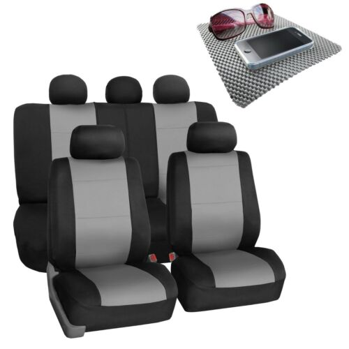Car Seat Covers For SUV Van Neoprene Universal Fitment Gray Black w// FREE Gift