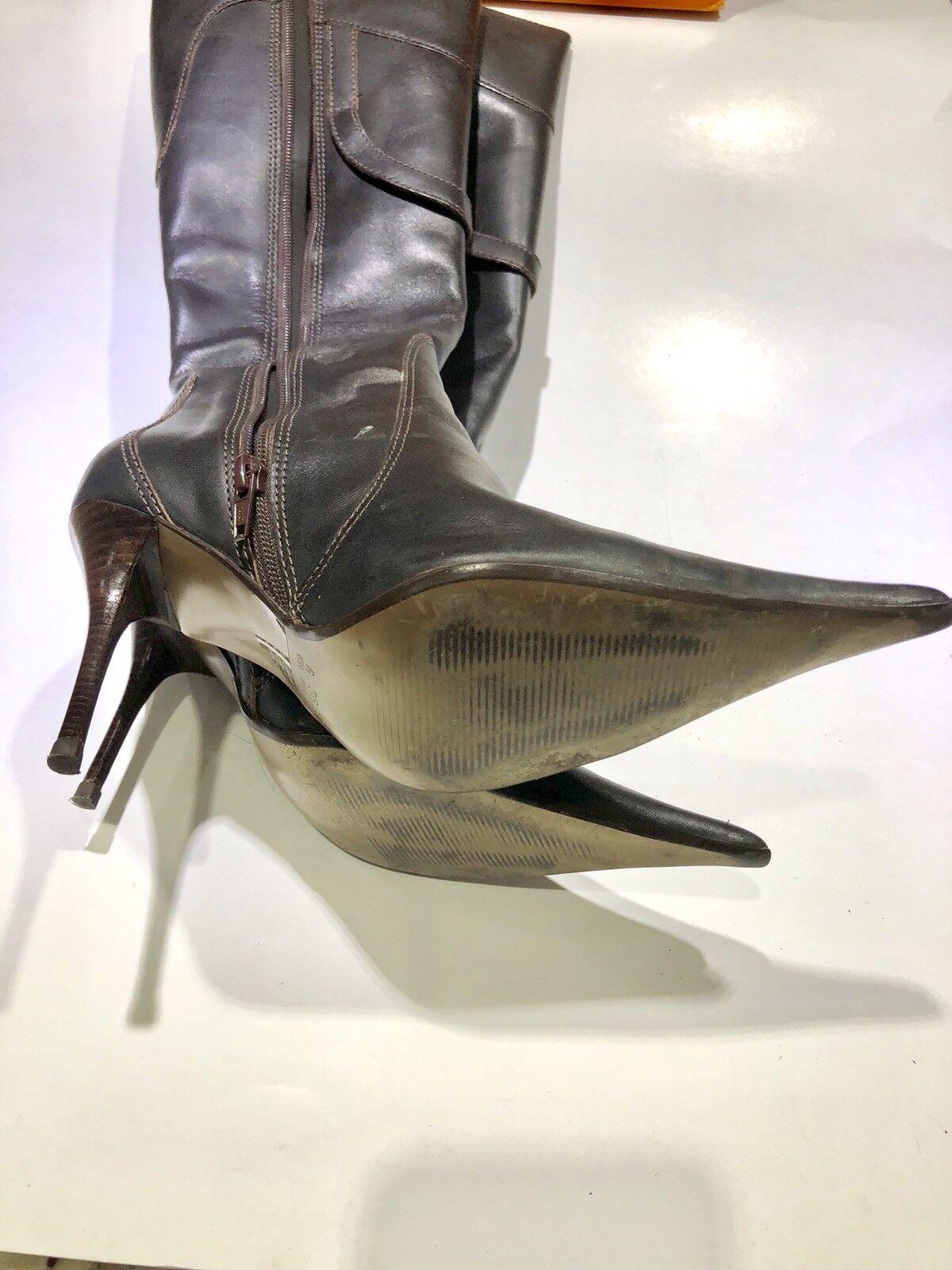 Mixx Damens's High 6 Braun Leder Stiefel Größe 6 High 6ada62