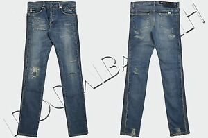BALMAIN-1500-Authentic-New-Distressed-Slim-Fit-Skinny-Blue-Biker-Jeans-sz-28