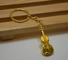 Golden Violin Keychain Perfect Gift