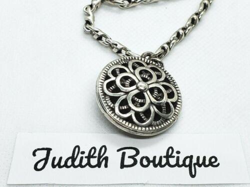 BRIGHTON Greta Floral Silver Necklace