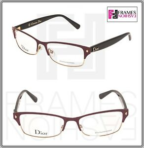 eb13715bee CHRISTIAN DIOR LES MARQUISES CD3772 Red Gold Brown Steel RX Optical ...