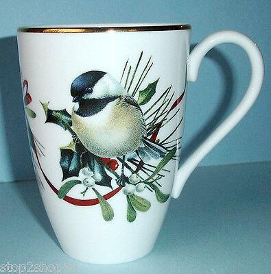 Bird mugs lenox collection on ebay lenox winter greetings accent mug chickadee bird white new m4hsunfo