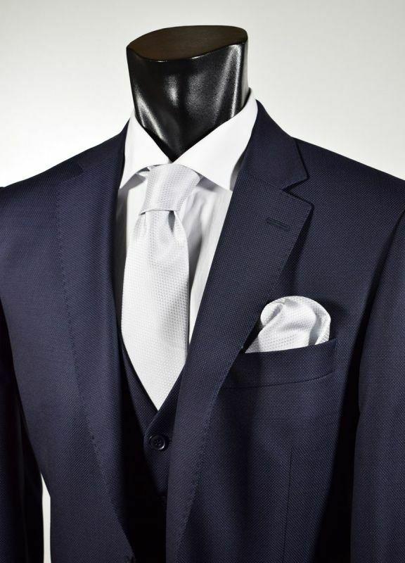 Abito Blu Digel Drop 6  Modern Fit con panciotto in Pura Lana rota  Super 110's