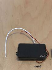 USA EMG 81 Black Bridge Humbucker Guitar Pickup Silver Lettering w/ Battery #1