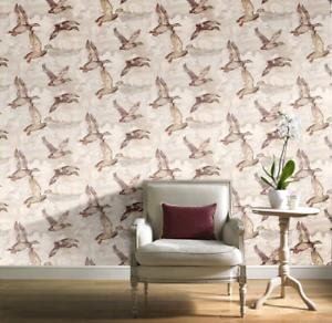 Rétro Flying Canards papier peint par GRANDECO