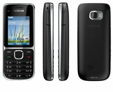 Nokia C2-01 Black 3G Bluetooth Camera Unlocked Mobile Phone With UK Plug In Box