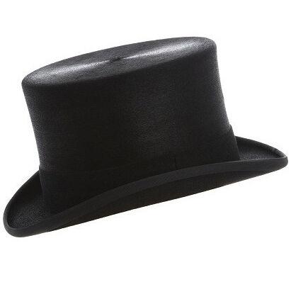 60 cm Christys NERO LUCIDO PELLICCIA cappello Taglia 7 3//8