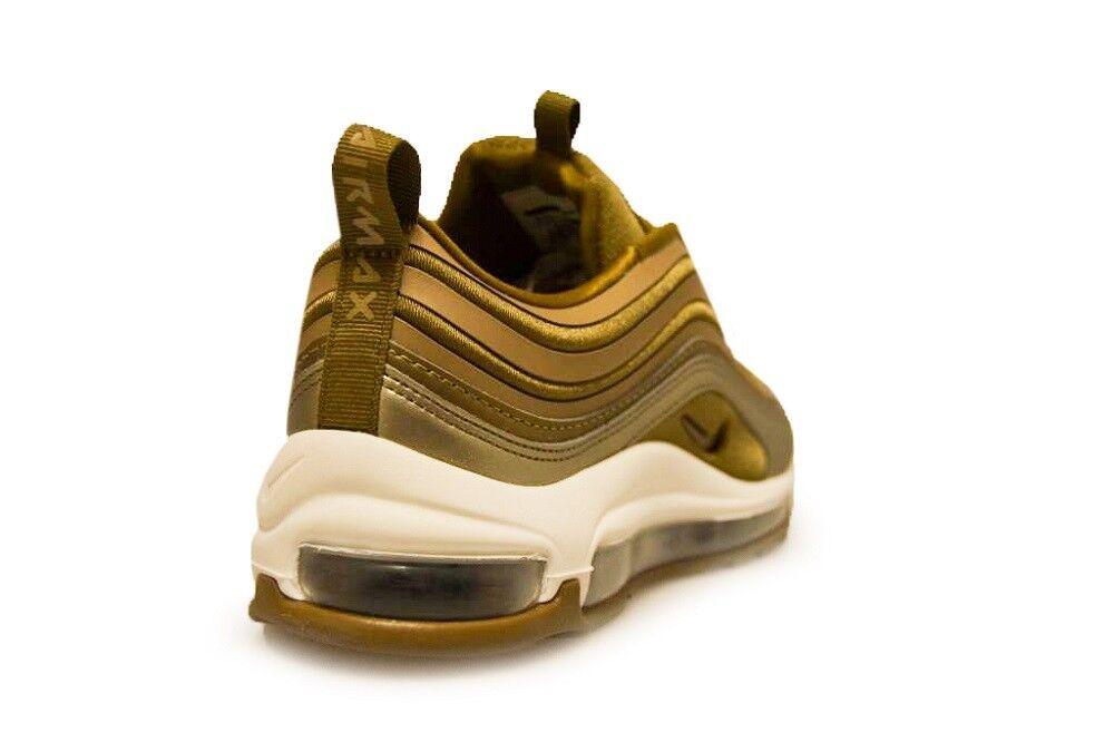 Damen Nike Air Air Air Max 97 Ultra '17 - 917704 901 - Metallic Gold Weiße Sportschuhe b48a60