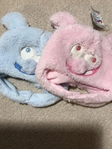 Baby Cappello Morbido Flux pelliccia con Rosa o Blu Ragazzi Ragazze 3-6 6-9 9-12 LAV Pom Pom