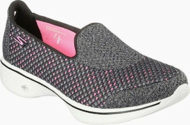Skechers Skechers Go Walk 4 Ravish Womens Slip On Walking Shoes Navy And White