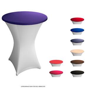 Tischplattenbezug Deckel für 85 cm Stehtisch Stretch Topper Husse Bezug Expand