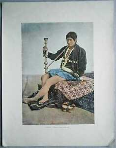 ca-1895-French-photochrom-PERSIAN-WOMAN-SMOKING-QALYAN-IRAN-317