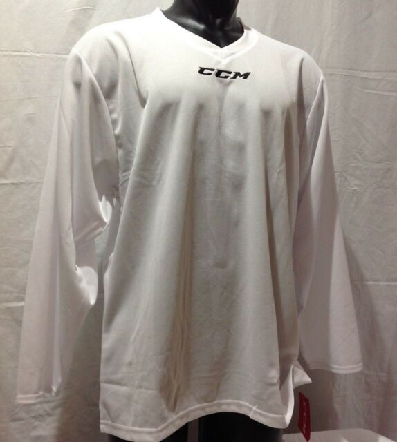 CCM Hockey Senior adult 5000 Practice Jersey-goalie Cut White  0888b530d69