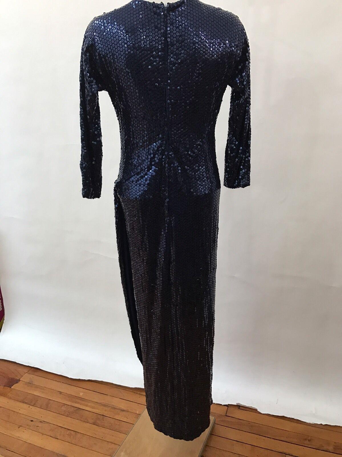 Dominic Rompollo Dress Gown bluee Beaded Formal Formal Formal Long Sleeve 10 085765