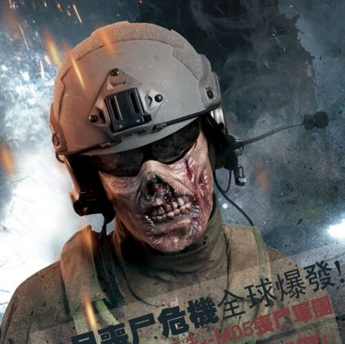 New Military Paintball Half Face Protection Gear Tactical V2 Airsoft Zombie Mask