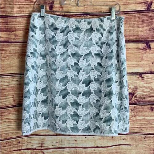 Tory Burch Mint Green Lace Overlay Mini Skirt
