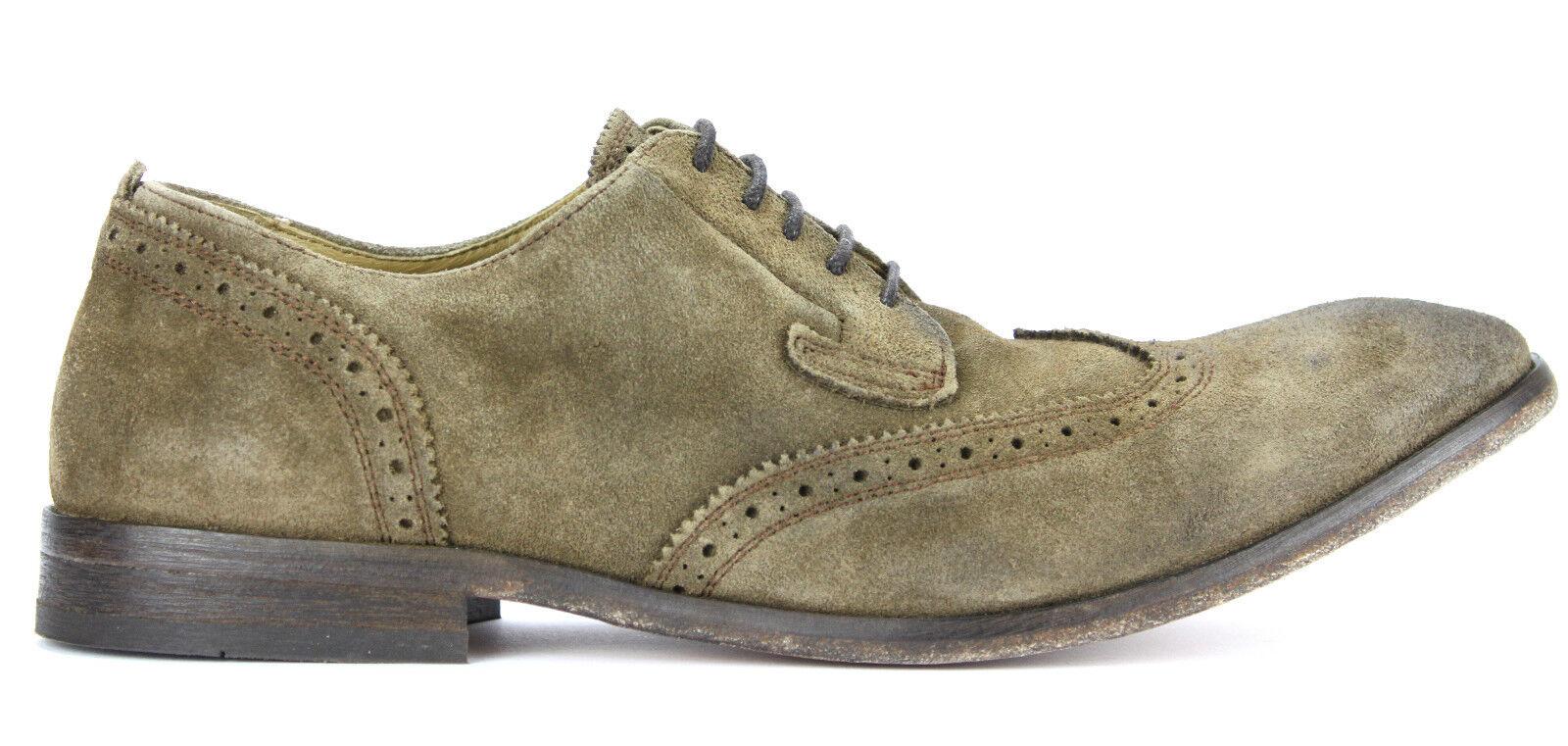H by Hudson Shoes Halbschuh Budapester ROWE SUEDE tobacco braun Neu UVP 189,90