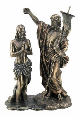"10.5"" Jesus Christ Baptized by Saint John The Baptist Statue Figurine Religious"