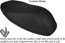CARBON FIBRE VINYL CUSTOM FITS MBK STUNT 50 DUAL SEAT COVER ONLY