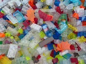 LEGO-300-g-Glas-Steine-Basic-bunt-Sondersteine-Fenster-transparent-kg-Konvolut