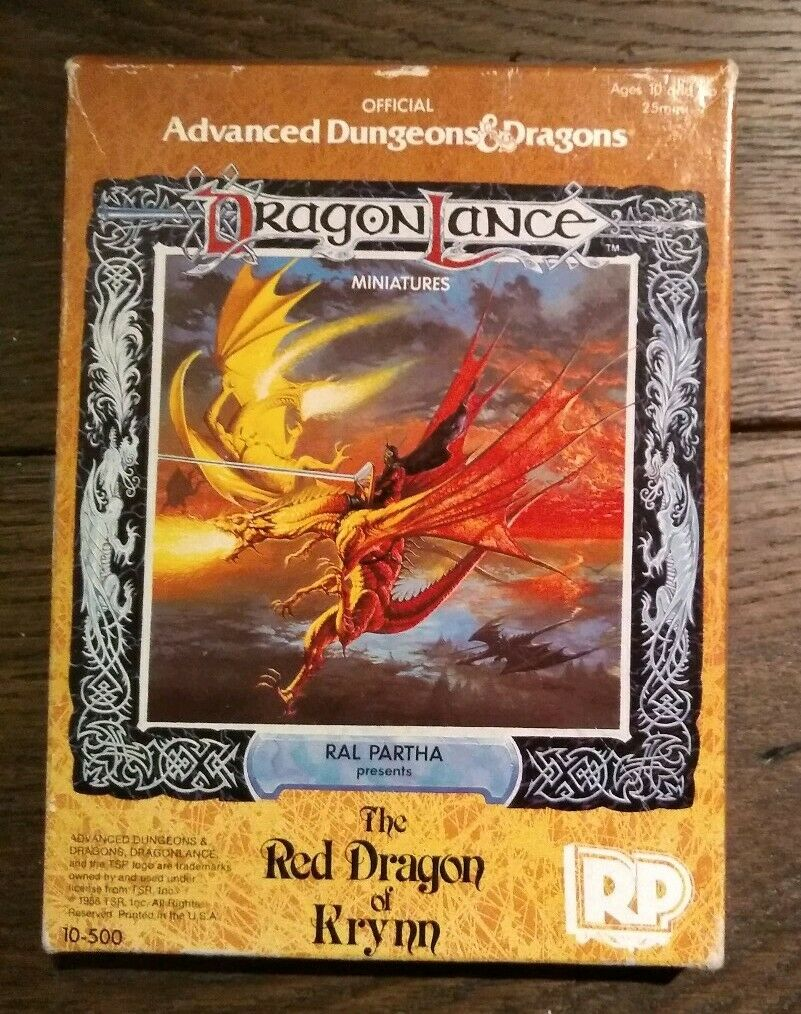 The Red Dragon Of Krynn Ral Partha AD&D Dragon Lance Metal Unpainted 10-500