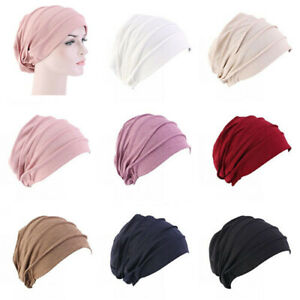 Muslim-Women-Cancer-Elastic-Hat-Hair-Loss-Cap-Chemo-Turban-Cover-Headwear-Beanie