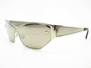 71781b124ee6d New Versace VE 2205 12525A Pale Gold w Light Brown Dark Gold Mirror ...