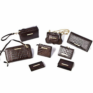 Designer-Crocodile-Skin-8pc-Shoulder-Bag-and-Purse-Set-Wallet-Handbag