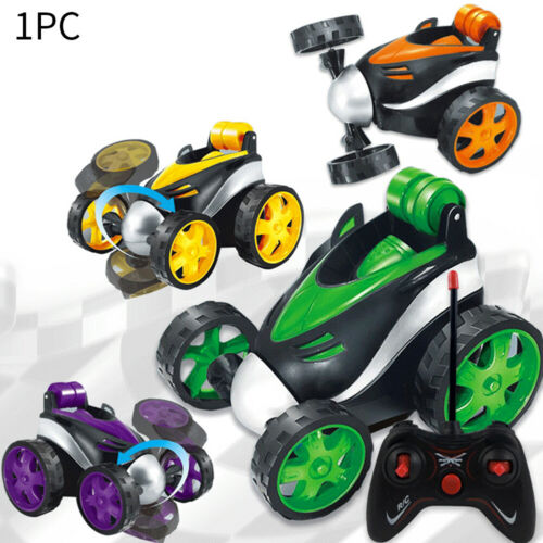RC Wireless Remote Control Car Rotating Tumbling Stunt Truck Toys Dump Gift