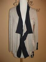 Liz Claiborne Striped Open Front Cardigan Sweater P/m