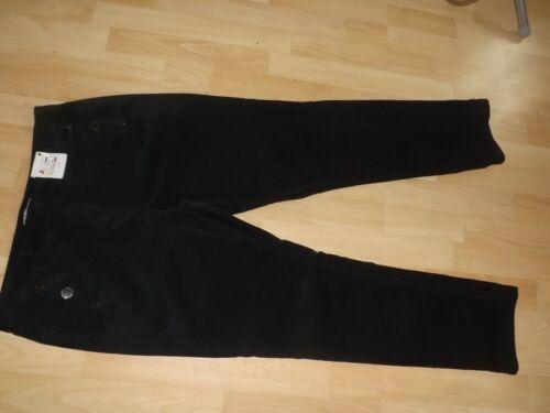 M/&S PER UNA BLACK SOFT CORD SLIM LEG TROUSERS SIZE 20S 20 S SHORT BNWT RP £39