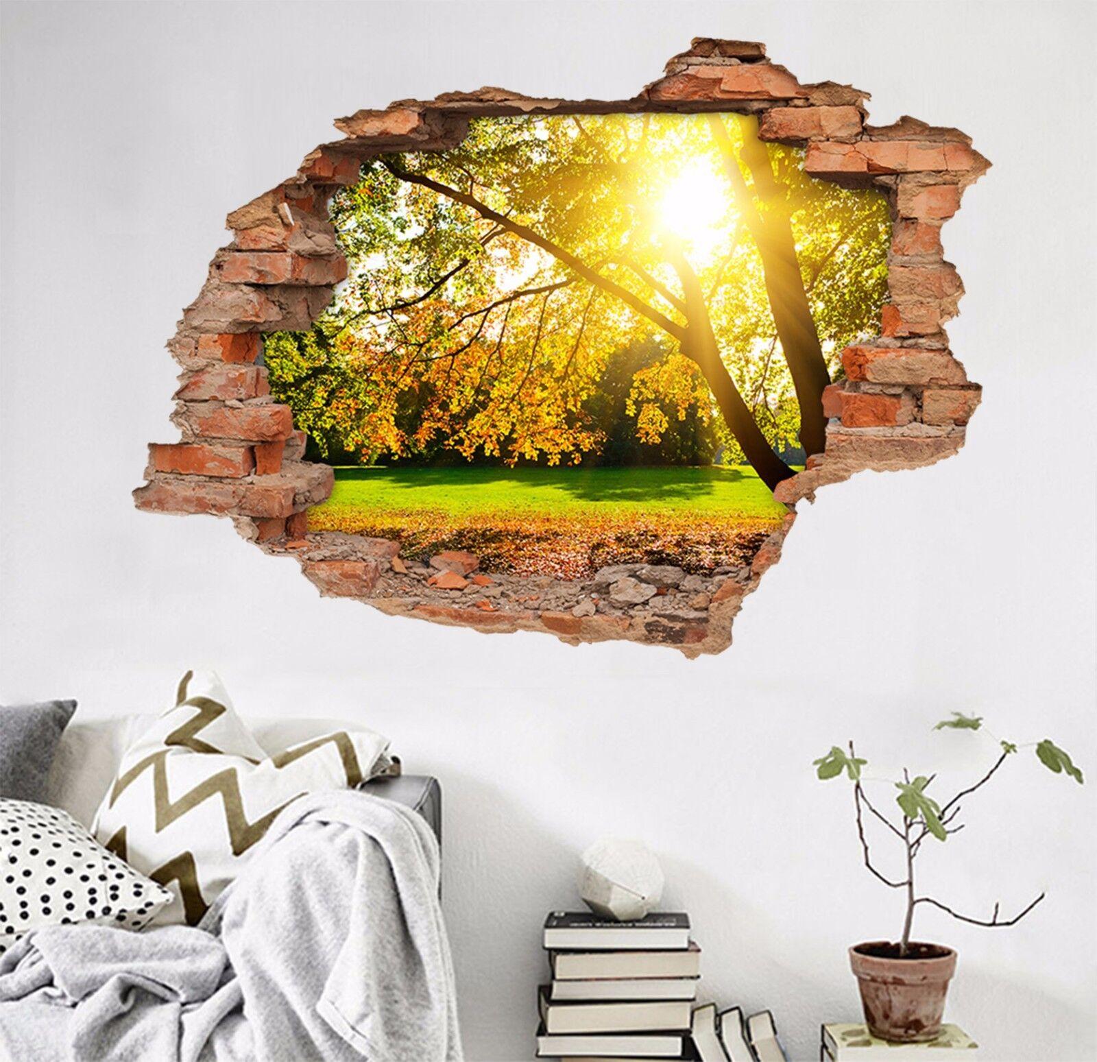 3D Sonniger Baum 55 Mauer Murals Aufklebe Decal Durchbruch AJ WALLPAPER DE Lemon