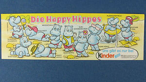 Die-Happy-Hippos-original-Beipackzettel-U-Ei-BPZ-1988