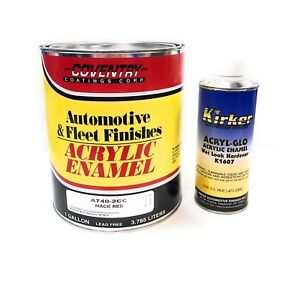 Acrylic Enamel Paint >> Details About Mack Red Acrylic Enamel Single Stage Auto Body Shop Car Paint Coventry Kirker