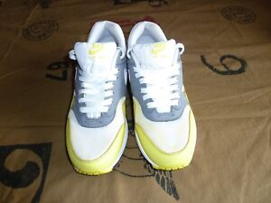 Details about Nike Air Max 1 White Yellow Cool Grey Trainers 537383 111 US Men's Size 11