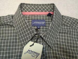 Jeremy-Argyle-of-NYC-Gray-Tattersall-Brushed-Cotton-Sport-Shirt-NWT-Medium-148