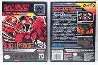 Secret Of Evermore - No Game - Super Nintendo Snes Custom Case