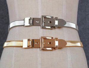 Details about Retro Waistband Hot Buckle Chains Waist Vogue Metal Belt Wide Gold Band Lady UK