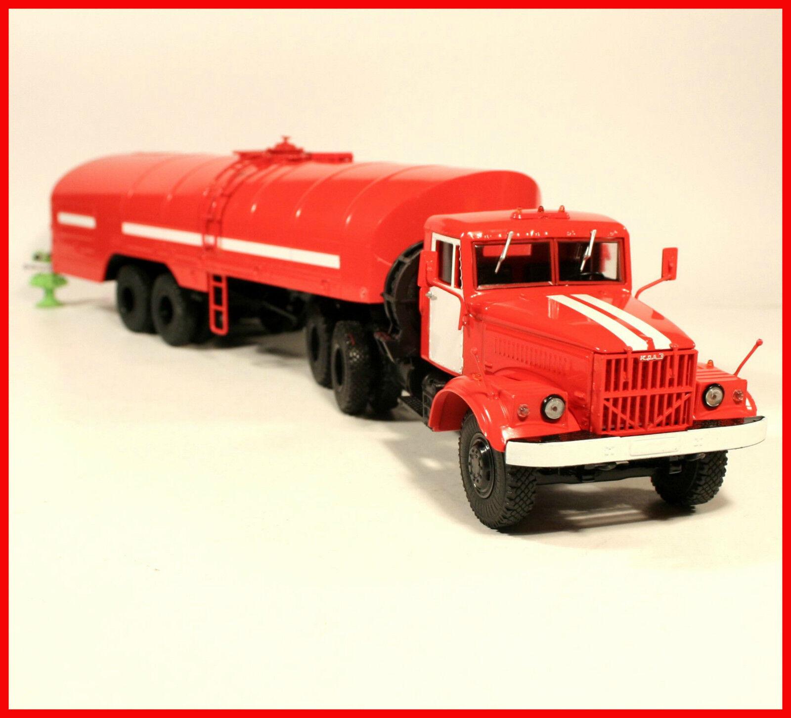 1 43 Feuerwehr FW KRAZ 258 mit fire Tanker TS-22 ex SSM USSR UdSSR DDR russian    Schöne Kunst