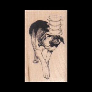 German Shepherd Rubber Stamp Dog Standing G32515 WM