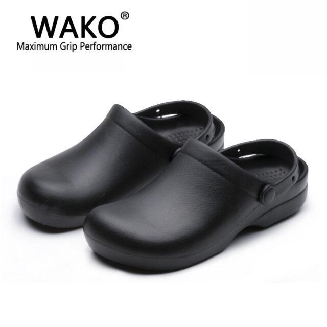 9011 chef shoes women men cook clogs safety antislip kitchen shoes sandals black