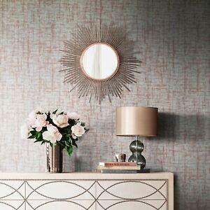 Charice-Crosshatch-Papier-Peint-Metallique-Dore-Rose-Muriva-702004