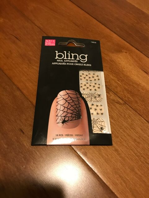 Nail Bliss Bling Nail Appliqué Halloween Spider Web | eBay